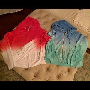Closet Cleanout! 2 Venus Ombre Zip Hoodies Sz XL